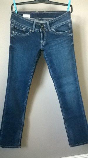 Pepe Jeans London Tube jeans staalblauw Katoen