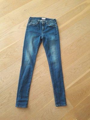 Pepe Jeans London Hoge taille jeans petrol Katoen