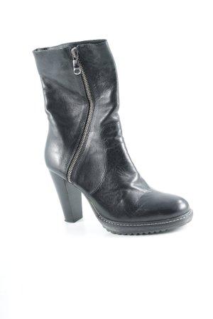 Peperosa Reißverschluss-Stiefeletten schwarz Street-Fashion-Look