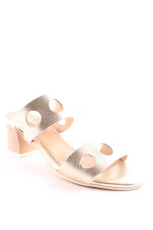 Peperosa Riemchen-Sandaletten goldfarben-weiß Elegant