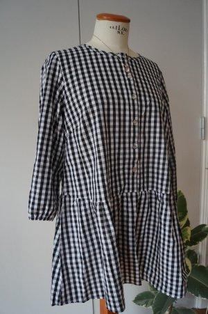 b.p.c. Bonprix Collection Geruite blouse wit-zwart