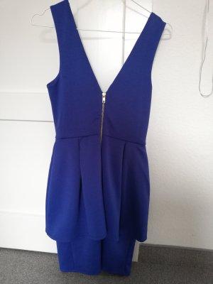 peplum Kleid in kräftigem blau 36