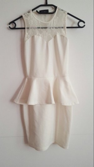 Peplum Kleid spitze weis