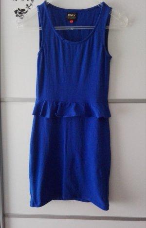 Peplum Schößchen Kleid Blau