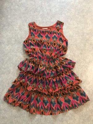 Loft Peplum Dress multicolored