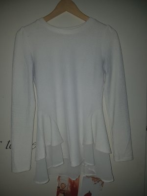 peplum shein pullover blogger