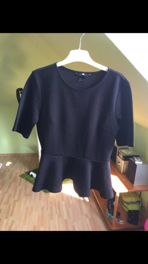 Peplum Shirt Black S