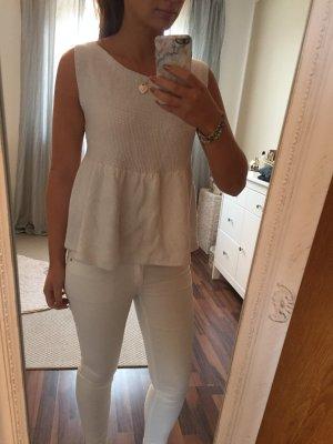 Peplum Top von Zara in Weiß