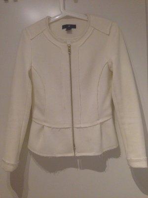 Peplumblazer / Jacke mit Schösschen von H&M in 38, off-white