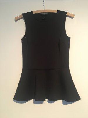 Peplumtop, schwarz, von H&M, XS