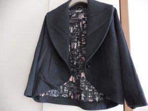 Pepper Coat Mantel aus Schurwolle dunkelgrau