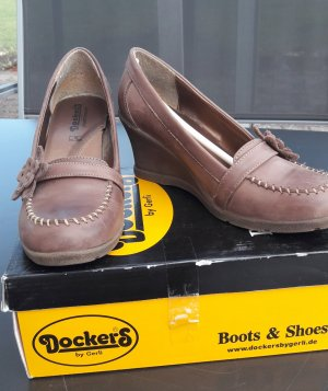 Dockers Wedge Pumps light brown-brown leather