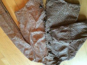 Veste en cuir brun sable cuir