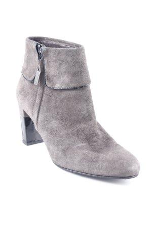 Perlato High Heel Stiefel dunkelgrau-schwarz Casual-Look