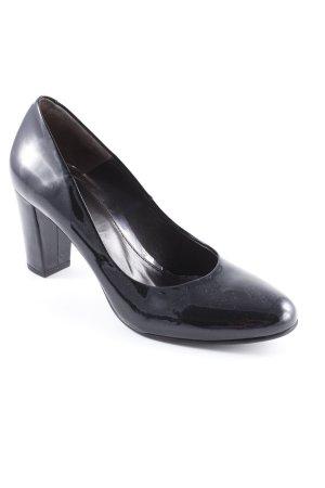 Perlato High Heels schwarz Lack-Optik
