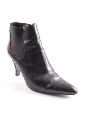Perlato Schlüpf-Stiefeletten schwarz Elegant