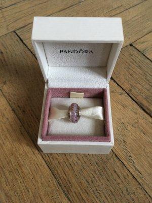 Perle Charm von Pandora aus Muranoglas | Muranoperle Muranoglasperle rosa lila rosé