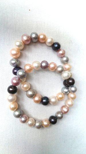 Perlen Armband Echtschmuck 2er Set rosé