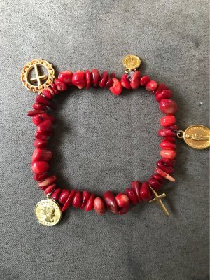 Pearl Bracelet dark red-bronze-colored