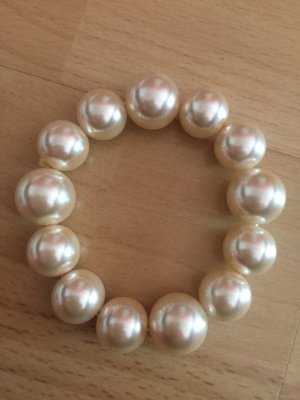 Perlen Armband nude beige hell