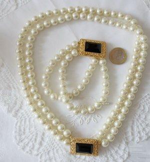 Perlen Cabochon Collier und Armband