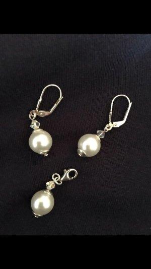 Perlen Charm Anhänger mit Ohrhängern