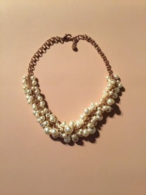 Collier wit-goud