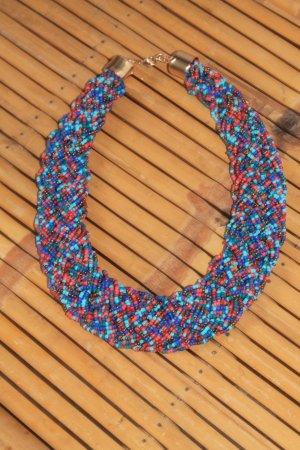 Perlen - Collier * Hippie * Boho * tolle Farben * nie getragen *