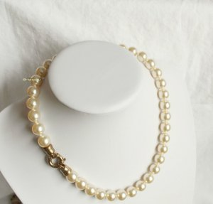 Vintage Collier Necklace cream-natural white