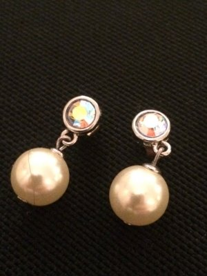Zara Pearl Earring white-silver-colored
