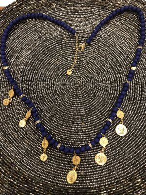 Pearl Necklace blue-bronze-colored
