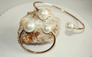 Perlen Halsreif und Armeif grosser Modeschmuck