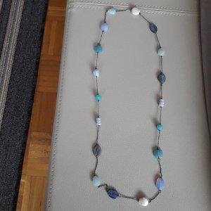 Perlen & Natursteine  Silberkette aus Italien,  82 cm