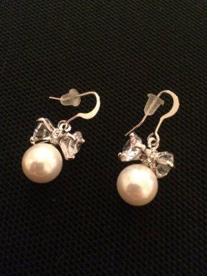 Perlen Ohrhänger mit Schleife top Zustand
