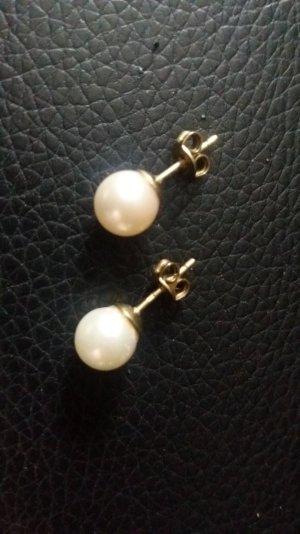 Perlen Ohrringe, 333 Gold