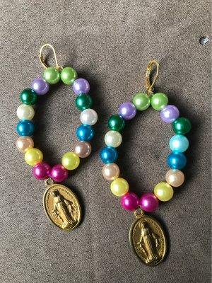 Boucles d'oreilles en perles multicolore