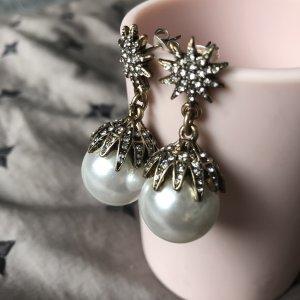 Perlen Ohrringe Strass Kristalle
