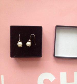 Perlen Perlen-Ohrringe Perlenohrringe klassisch silber Zuchtperlen