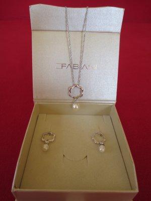 Perlen Schmuckset - silber