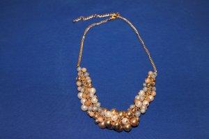 Perlen-Statement-Kette, pastellfarben