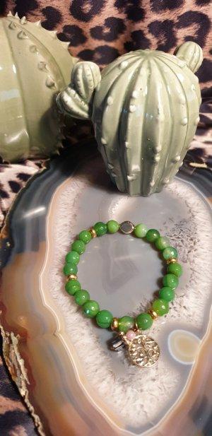 Perlenamband grün