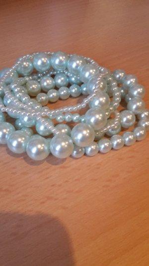 Perlenarmbänder, türkis