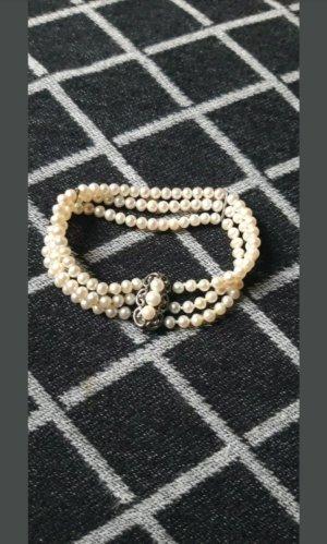 Brazalete de perlas blanco puro