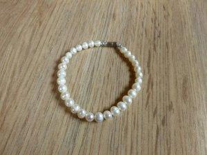 Perlenarmband Armband Perlen weiß