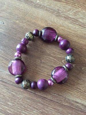 Perlenarmband Lila Six Modeschmuck