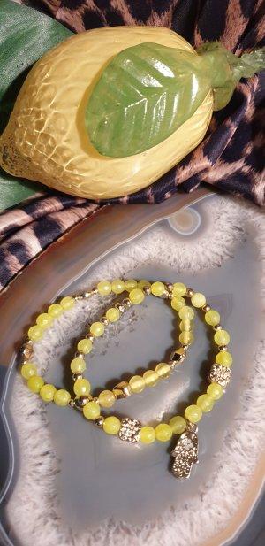 Perlenarmband Set Farbe Limone
