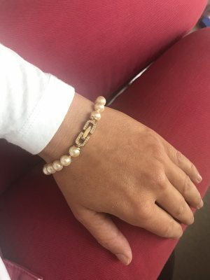 Pierre Lang Pearl Bracelet gold-colored-white