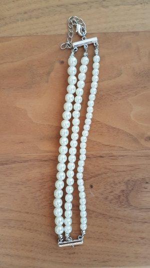 Perlenarmband weiß