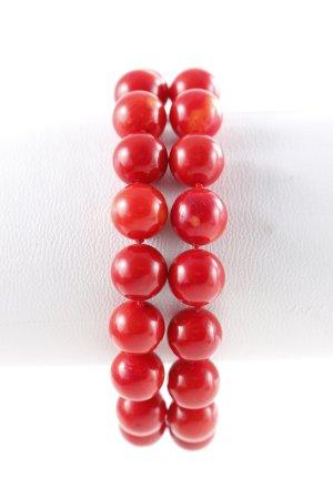 """Perlenarmschmuck """"2 Korellenarmbänder"""" rot"""
