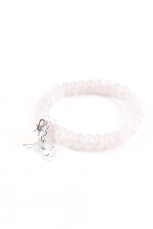 Perlenarmschmuck silberfarben-rosé klassischer Stil